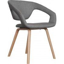 Flex Back stoel - Zuiver - lichtgrijs -  naturel