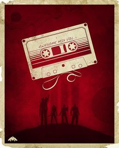 04-GOTG Guardians of the Galaxy Awesome Mix Vol 1 Cassette Tape Minimalist Poster Print