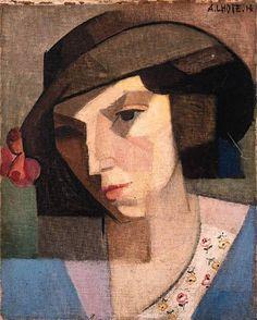 André Lhote (1885-1962), Portrait De Femme 1914 (40,7 x 32,4 cm) on ArtStack #andre-lhote-1885-1962 #art