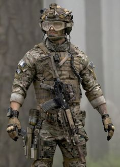 SOCOM Devil Dog: Photorealistic Character Art with Luis Nieves Military Police, Military Weapons, Military Art, Military Tactical Gear, Tactical Clothing, Military Fashion, Special Forces Gear, Military Special Forces, Surplus Militaire