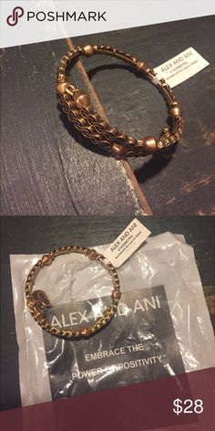 NWT Alex and Ani gold wrap bracelet NWT.  Nordstrom exclusive.  Pet & smoke free home Alex & Ani Jewelry Bracelets