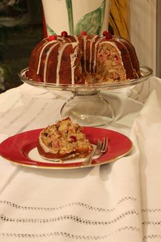 Across the Way...Dorie Greenspan's Cranberry Spice Bundt Cake