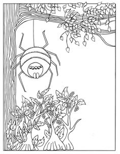 Pretty Dreadful coloring pages are adorned with the creepy