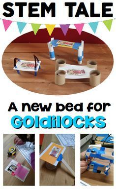 Fairy Tale: STEM Activity for Kids - use a familiar fairy tale to work through the engineering design process. A new bed for Goldiocks is perfect for your little engineers in grades Ask Imagine Plan Create Improve Steam Activities, Science Activities, Activities For Kids, Science Books, Fairy Tale Activities, Space Activities, Educational Activities, Science Experiments, Stem Science