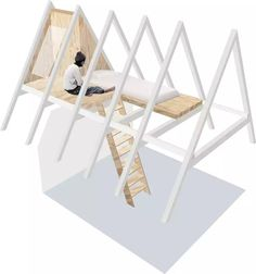 Kidsroom, Toddler Bed, Shelves, Architecture, Tiny Houses, Attic, Interior, Table, Furniture