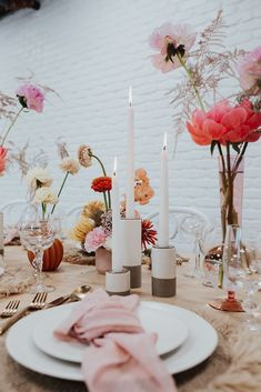 Colorful and Bright Spring Tabletop Inspiration // Nicole George Event Planning & Design // Liz Erban Photography // Archive Rentals // Inessa Nichols Floral Design Bright Spring, Wedding Bells, Our Wedding, Dream Wedding, Event Planning Design, Wedding Planning, Pink Table Settings, Tabletop, Amazing Decor