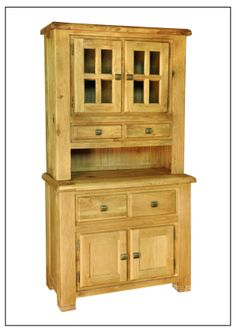 ELEPHANT  FURNITURE - Danube - Small Buffet & Hutch (1000mm x 450mm x 1900mm High)  DWO-SB/H047 - SPECIAL PRICE: $445.4 Small, Weathered Oak, Oak, Storage, China Cabinet, Cabinet, Furniture, Home Decor, Buying Wholesale