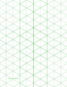 Attractive This Letter Sized Isometric Graph Paper Has One Inch Figures (triangles).