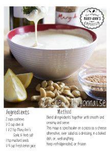 Cashew mayo - cashews, olive oil, garlic & herb salt, mustard seeds, lemon juice