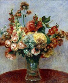 Pierre-Auguste Renoir, Flowers in a Vase
