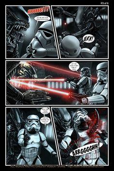 Star Wars vs Aliens - short story - Page 3 of 6 by Robert-Shane on deviantART