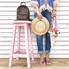 Louis Vuitton Backpack, Straw Bag, Anna, Handbags, My Style, Beach, Instagram Posts, Fashion, Backpacks