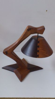 Wooden lamp with dovetails