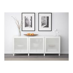 BESTÅ Storage Combination With Doors   White/Glassvik White Frosted Glass    IKEA