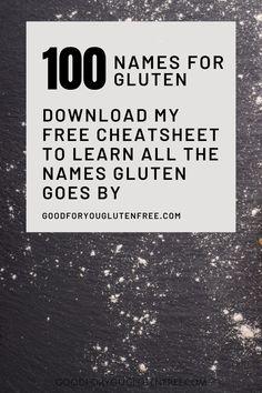 Best Gluten Free Recipes, Gluten Free Diet, Gf Recipes, Foods With Gluten, Raw Food Recipes, Celiac Disease Symptoms, Autoimmune Disease, Food Sensitivity, Alternative Names