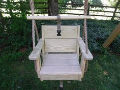 Toddler Swing and Rope by WoodSwings on Etsy, $119.00