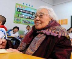 New primary-school pupil Ma Xiuxian, aged 102, has proven you're never too old to learn after becoming the world's oldest first-year pupil.  Read more at http://www.oddee.com/item_97160.aspx#Z9BLSH4ZwZfwdApI.99