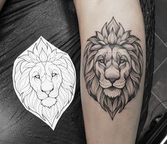 Did you miss seeing some new lion tats? 🦁😂 Now here's one I did today! Leo Tattoo Designs, Tattoo Design Drawings, Leo Tattoos, Animal Tattoos, Lion Tattoo Sleeves, Sleeve Tattoos, Tattoo Studio, Blackwork, Lion Head Drawing