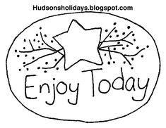 Hudson's Holidays - Designer Shirley Hudson: Enjoy today- Free stitchery pattern