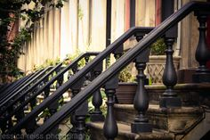 Antique Vintage Brownstone Rowhouses Railings by jessicareisspix,