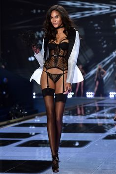 Victoria's Secret Fashion Show 2014 love the corset look with the dots and different lace!