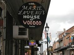 "New Orleans French Quarter Voodoo Shop - a fren brought me a ""fame and good fortune"" doll from there"