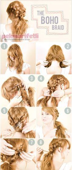 Günlük kullanım için kolay saç modeli | Saç Modelleri | Pek Marifetli!