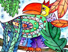 Artsonia Art Museum :: Artwork by MrsKill1 - Tropical Birds (2nd)