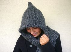 Dark Gray Hood by afra on Etsy