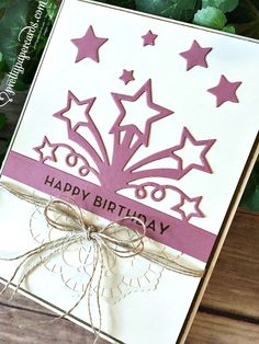Pretty Paper Cards - Page 4 of 98 - Peggy Noe Independent Stampin' Up! Simple Birthday Cards, Birthday Cards For Men, Handmade Birthday Cards, Birthday Blast, Birthday Star, Star Cards, Making Greeting Cards, Paper Cards, Cards Diy