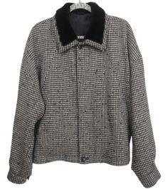 ISTANTE GIANNI VERSACE Vintage Mens Jacket Coat Wool Size 50 US L  #IstantebyVersace #FlightBomber