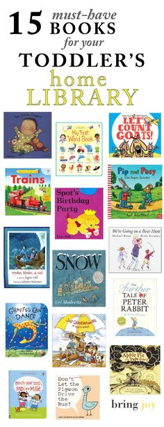 best books for toddlers 2-3 // bring-joy.com #literacy #parenting