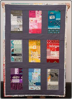 """I love this one. #modernquilt #quilting #fabric """"My very own lap quilt"""" by Sewing Under Rainbow, via Flickr"""