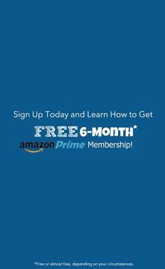 FREE 6-Month Amazon Prime Membership