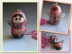 Belle Doll Locket by rockybeads, via Flickr