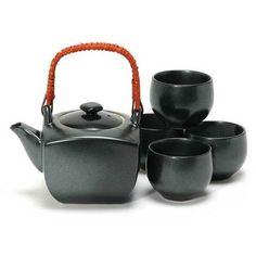 Square Black Tetsuyu Japanese Tea Set