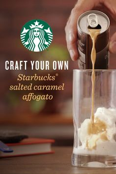 Affogato is fun to say and even more fun to make.  Just pour ½ can of Starbucks Doubleshot® Espresso & Salted Caramel Cream over a scoop of vanilla iced cream for a delicious dessert and pick-me-up combination.