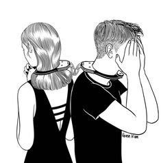 Korean artist Henn Kim creates minimalist black and white illustrations of those moments we feel lost in our own loneliness after a breakup. Henn Kim, Art Du Croquis, Dark Art Drawings, Art Et Illustration, Black And White Illustration, Korean Artist, White Art, Black White, Aesthetic Art