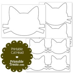 Printable Cat Head from PrintableTreats.com