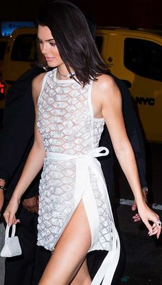 Street Style ~ Kendall Jenner Evening Look In Elie Saab.