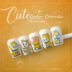 Wax Spa, Cartoon Nail Designs, Nails & Co, Nail Set, Doraemon, Chibi, Painting, Ideas, Stickers