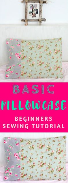 Pillowcases are fun to make & a great project for the absolute beginner! You'll want to make pillowcases for everyone with this pillowcase tutorial!