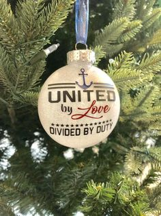 United by Love US Navy ornament sailor anchor US Navy Homemade Christmas Decorations, Christmas Hacks, Christmas Gifts For Her, Diy Christmas Ornaments, Christmas Projects, All Things Christmas, Handmade Christmas, Winter Decorations, Xmas
