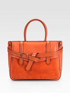Reed Krakoff  Leather and Suede Boxer Tote $1090
