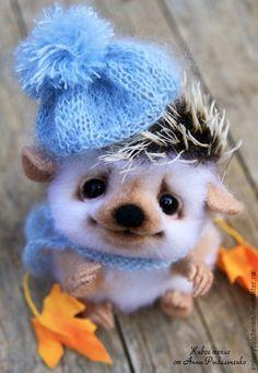 Купить Осенний ёжик Шурик - белый, коричневый, Ёжик, ёжики, ежи, ежик игрушка