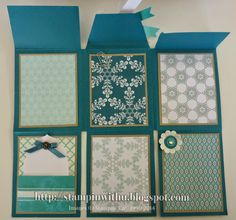 12 x 12 Scrapbook page Card... So Beautiful... Instructions and Measurements on the Blog.. download FREE PDF...