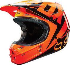 Fox Racing V1 Race 2015 MX/Offroad Helmet Orange in Vehicle Parts & Accessories | eBay