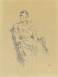 Berthe Morisot ÉTUDE POUR LA JEUNE FILLE AU REPOS 1894 Mary Cassatt, Rodin, Renoir, Berthe Morisot, Edouard Manet, Chef D Oeuvre, Degas, Art Day, Modern Art