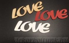 LOVE felirat 5 db/csomag, 10 cm széles, 3 cm magas Company Logo, Tech Companies, Logos, Logo