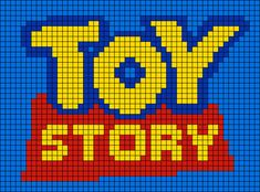 Alpha friendship bracelet pattern added by forky toystory toy story trash bonnie C2c Crochet Blanket, Graph Crochet, Pixel Art Templates, Perler Bead Templates, Pixel Pattern, Pattern Art, Easy Pixel Art, Toy Story Crafts, Modele Pixel Art